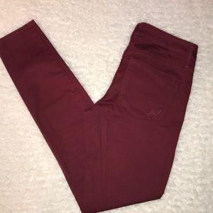 Express Jeans Burgundy Skinny Size 4